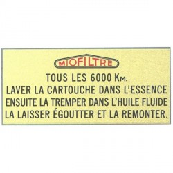 481510S STICKER 'MIOFILTRE' FILTRE AIR
