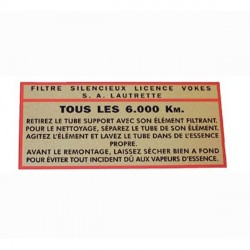 481482S AIR FILTER STICKER 'VOKES'