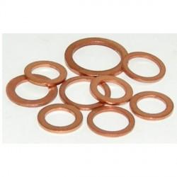 Juego arandelas para tubería de freno en cobre