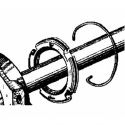 1533 RETAININGCLIP S.BLOCK REARAXLE
