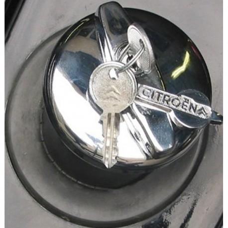 Tapon de gasolina con llave y logo