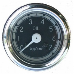 Reloj de presión de aceite fondo negro