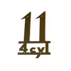 Emblema 11 4cyl en inox