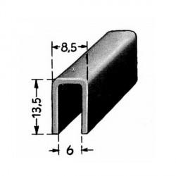121222 FRONTSCREEN RUBBER U GLAS/ALU