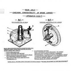 Centrador de zapatas tambor de freno trasero