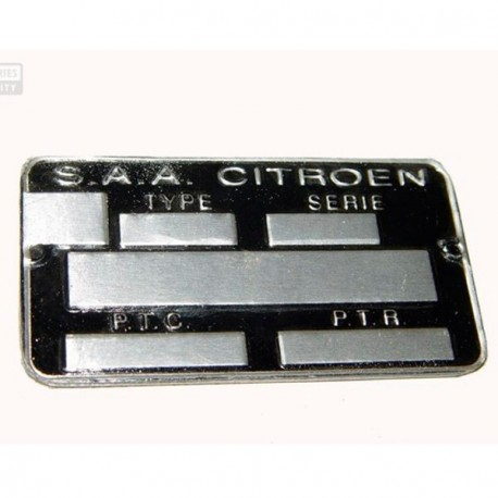 1900700 ID PLATE FRENCH MODEL