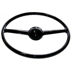604147 STEERING WHEEL 2 SPOKE GRAY
