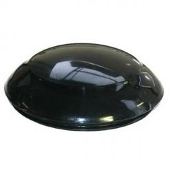 Tapon delantero en negro del volante de direccion