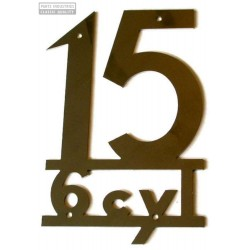 Letras 15 6cyl en inox - Sin H