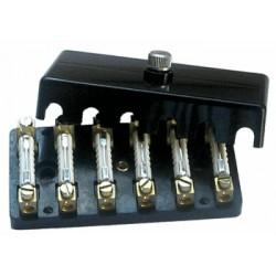 Caja portafusibles 6 conexiones